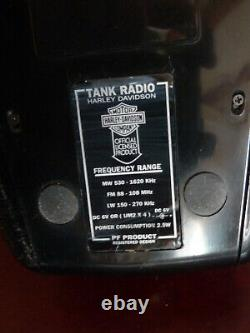 Rare Radio reservoir Harley Davidson moto tank radio official