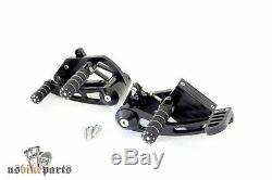 Repose pieds commandes reculées 5/8 Harley-Davidson custom moto CNC noir