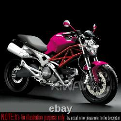 Rétros moto Missie rose + carbone blanc pour Suzuki AN 250 400 Burgman Skywave