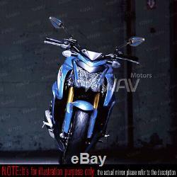 Rétroviseur Achilles noir + bleu réglable pour Buell Ulysses XB12XT Moto Guzzi