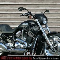 Rétroviseur carbon look LED running ou clignotant 5/16 pour moto Harley