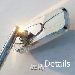 Rétroviseur chromé moto convexe CNC pour HARLEY-DAVIDSON CVO Softail Springer