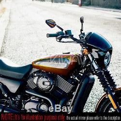 Rétroviseur moto Achilles noir et orange paire pour Harley Street 750 2014-2017