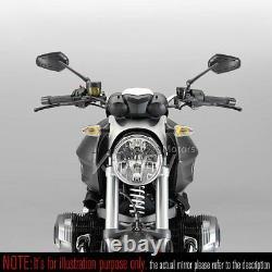Rétroviseur noir ZIPPER style aluminum stem 10mm 5/16 fitting pour Moto Guzzi