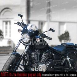 Rétroviseur noir moto convexe CNC pour Yamaha VStar VMax Virago XV 700 750 1100