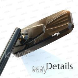 Rétroviseur noir moto convexe cnc CNC pour Buell Ulysses XB12XT Moto Guzzi