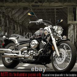 Rétroviseur séquentiel 2tone LED Lucifer noir 5/16 adapter pour Harley moto