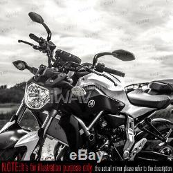Rétroviseurs cabone look moto cnc pour Harley-Davidson Sportster Nightster