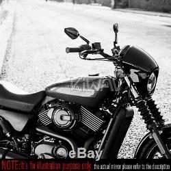 Rétroviseurs moto Achilles noir paire pour Harley-Davidson Street 750 2014-2017
