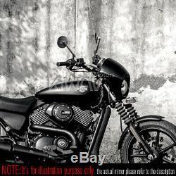 Rétroviseurs moto Missie roud noir pour Harley-Davidson Street 750 2014-2017