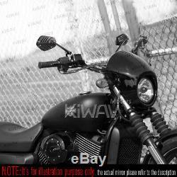 Rétroviseurs moto Shield noir paire pour Harley-Davidson Street 750 2014-2017