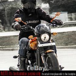 Rétroviseurs moto Viper orange paire pour Harley-Davidson Street 500 2014-2017