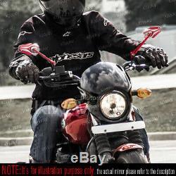 Rétroviseurs moto Viper rouge paire pour Harley-Davidson Street 500 2014-2017