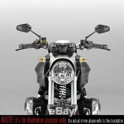 Rétroviseurs moto Zipper noir paire pour Harley-Davidson Street 500 2014-2017