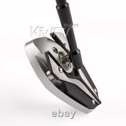Rétroviseurs noir et d'argent 10mm pour Triumph Moto Guzzi Honda Kawasaki