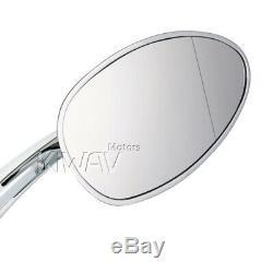 Rétroviseurs oval chromé aluminum 5/16 pour Harley softail dyna v-rod cvo moto