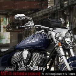 Rétroviseurs oval chromé aluminum M10 pour Honda Suzuki Kawasaki Yamaha moto