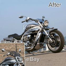 Rétroviseurs oval chromé aluminum M10 pour moto chopper bobber naked stree bike