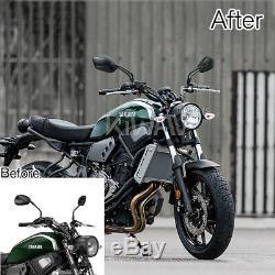 Robust moto rétroviseurs palm style noir aluminum CNC pour custom moto