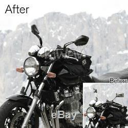 Robust moto rétroviseurs wider view palm style noir aluminum CNC pour Hyosung