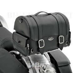 Sacoche Top Box arrière de Sissy-Bar Universel Moto Custom et Harley Davidson
