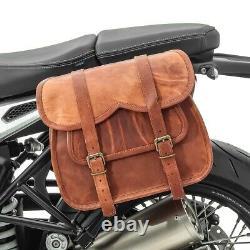 Sacoche cavalière pour Harley Davidson Softail Slim / Standard SV1B marron