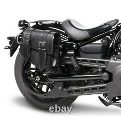 Sacoches Cavalières p. Harley Softail Slim FLS/ FLSL/ Street Bob Montana noir