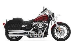 Sacoches Latérales Grandes Cruiser Classic Cuir Moto Custom et Harley Davidson