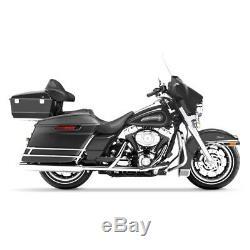 Sacoches Rigides Prolongés pour Harley Davidson CVO Street Glide 14-20 noir mat