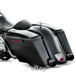 Sacoches Rigides Prolongés pour Harley Davidson Touring 94-13 Black Latch