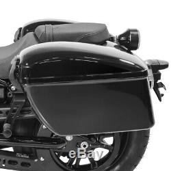 Sacoches laterales DL + kit de fixation pour Harley Dyna Super Glide Custom