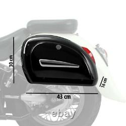 Sacoches laterales pour Harley Davidson Sportster 1200 CB Custom MG