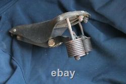 Selle en cuir de moto prewar (no bsa bmw harley davidson)