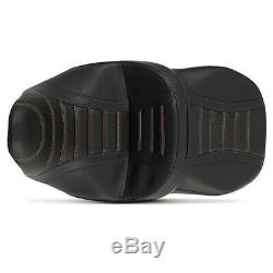 Selle moto Craftride TG3 couture pour Harley Davidson Touring 09-20 noir