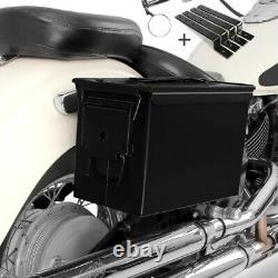 Set de Sacoches PA108 pour Harley Davidson Sportster Forty-Eight 48/Special noir