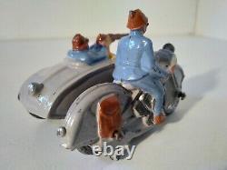 Simon et Rivollet SR moto Harley Davidson side car militaire WW1 plomb 1/40