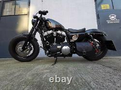 Sporty Crâne Noir Ailier Selle Sac Sacoches de Moto Harley Davidson Sportster