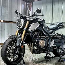 Superb moto rétroviseurs miroirs retro rond noir aluminum pour Harley sportster
