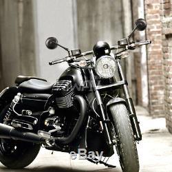 Superb moto rétroviseurs miroirsretro rond noir pour Harley-Davidson Breakout
