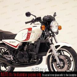 Superb moto rétroviseurs miroirsretro rond noir pour Harley-Davidson v-rod
