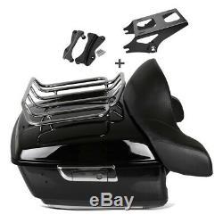 Top Case L avec kit de montage porte bagage pour Harley-Davidson Touring 14-20
