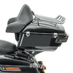 Topcase King pour Harley Street Glide 14-20 + feux arrière fumé clair