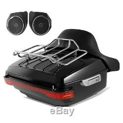 Topcase Set pour Harley CVO Road Set 2014 + haut parleurs rouge
