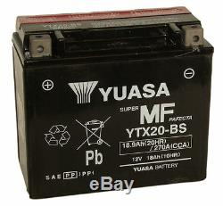 Véritable yuasa YTX20-BS, 12V 18AH Moto Batterie Inc Kit de Remplissage