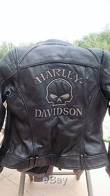 veste moto femme harley davidson ts 36 noire comme neuve. Black Bedroom Furniture Sets. Home Design Ideas