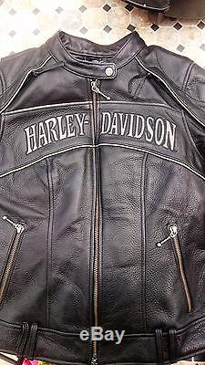 Veste moto femme Harley Davidson TS/36 noire comme neuve