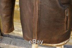Veste vintage en cuir de moto des années 70 byker Harley Davidson taille L