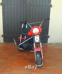 Vintage 70's Moto Chopper Éléctrique Style Harley Davidson