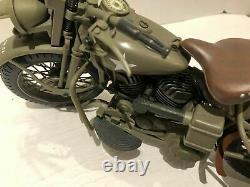 Vintage Harley Davidson militaire moto HASBRO 1998 Gi Joe échelle 1/6