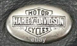 Vintage Hommes Harley Davidson Veste Cuir M Noir Café Basic Skins Barre Bouclier